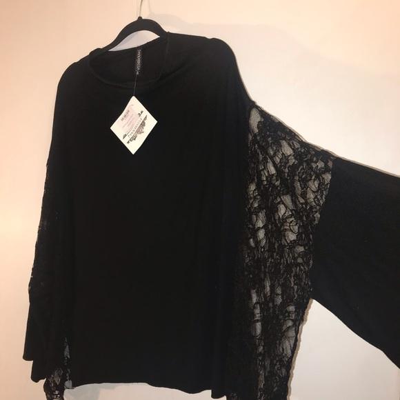 🖤 Black Lace Poncho